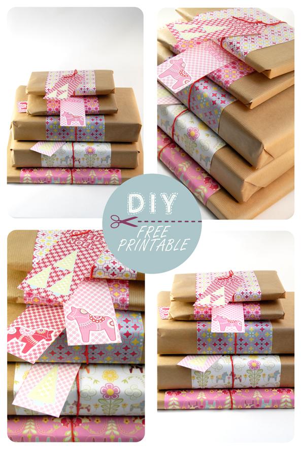 free printable wrap paper dala horse 10