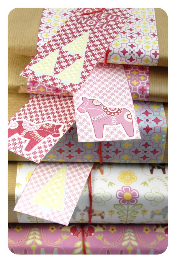 free printable wrap paper dala horse 7