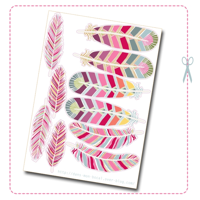 free printalbe feather dream catcher