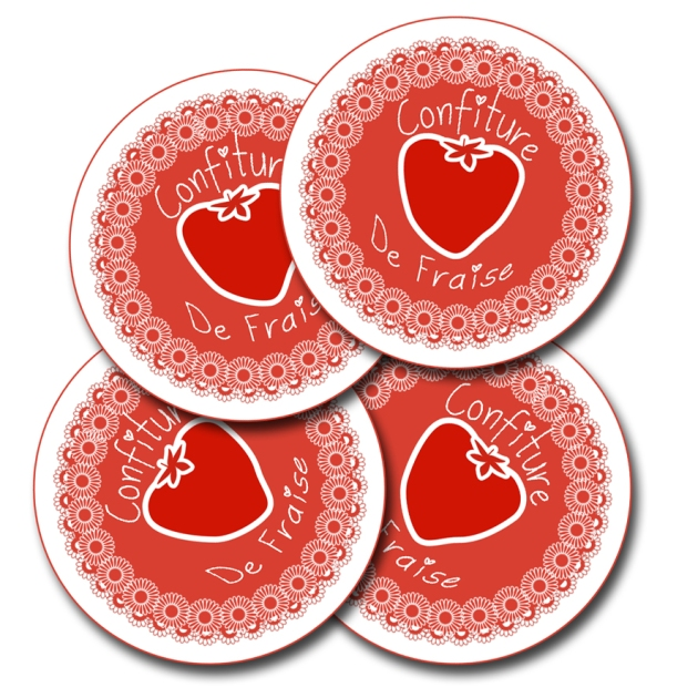 free printalbe label jam fraise