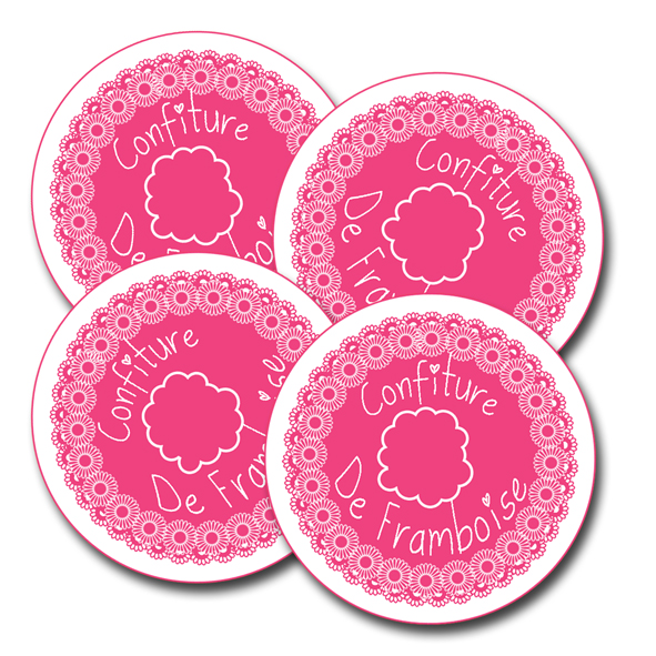 free printalbe label jam framboise