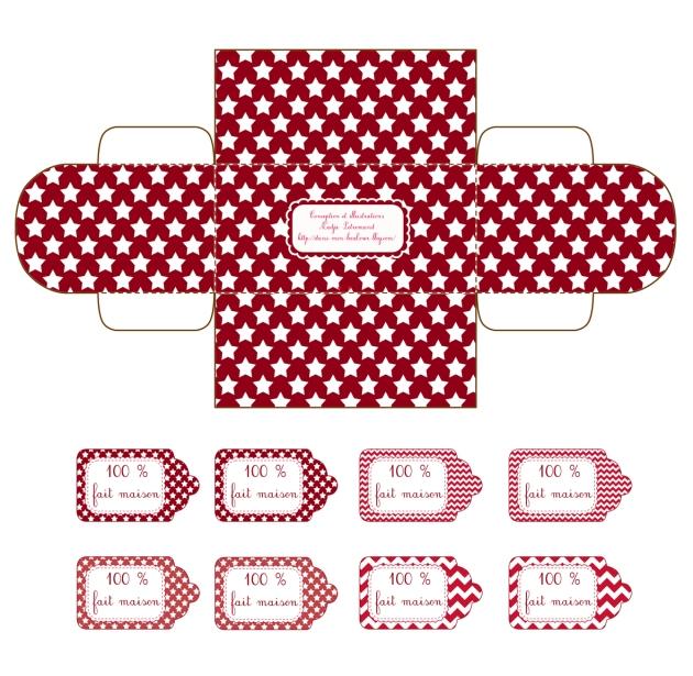 gratuit boite cadeau petit coffre à imprimer free printable gift box 1
