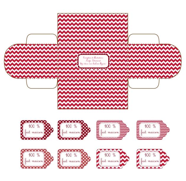 gratuit boite cadeau petit coffre à imprimer free printable gift box 2