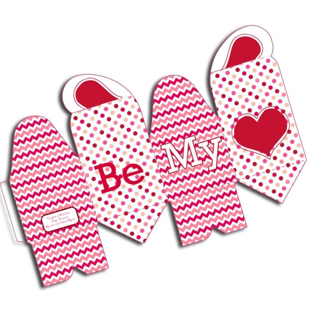 gratuit boite cadeau st valentin à imprimer free printable box template