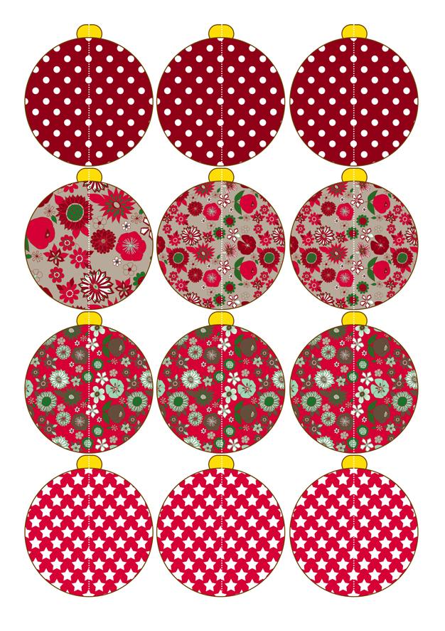 Etiket on pinterest owl labels tags and printables - Boules de noel a colorier gratuit ...
