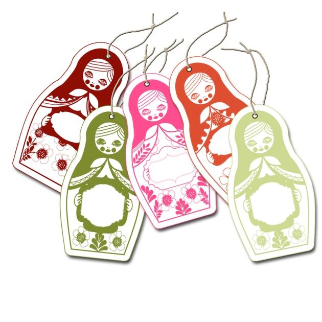 gratuit étiquette cadeau poupée russe-printable label giftf
