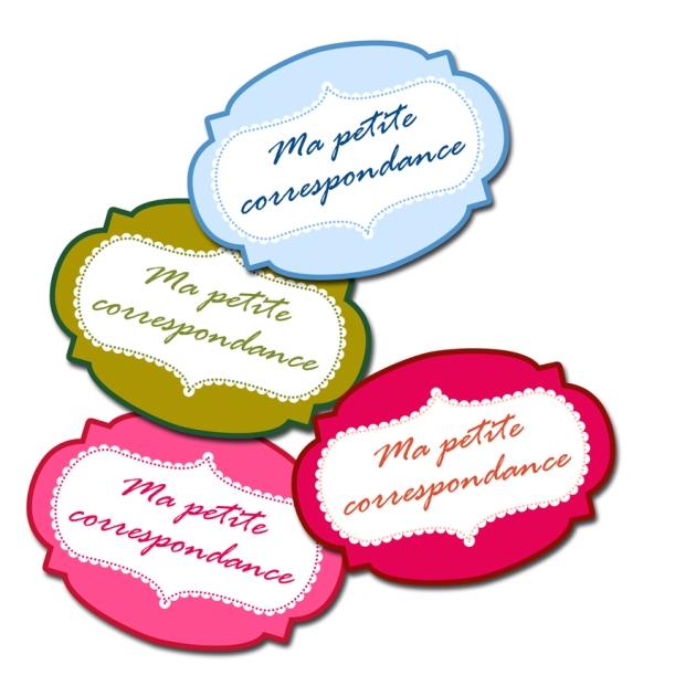 gratuit étiquette coffret correspondance free printable label