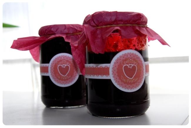 gratuit étiquette confiture de fraise
