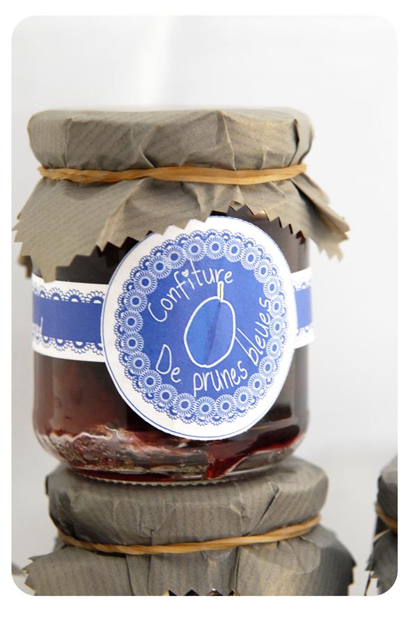 gratuit étiquette confiture de prune noire et bleue 2