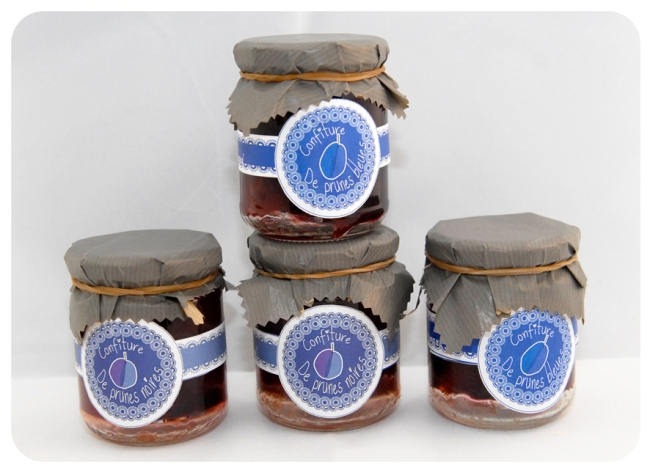 gratuit étiquette confiture de prune noire et bleue 4