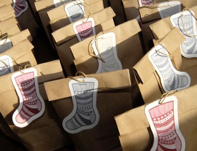 gratuit étiquette pour cadeau chaussette de noel photo 3