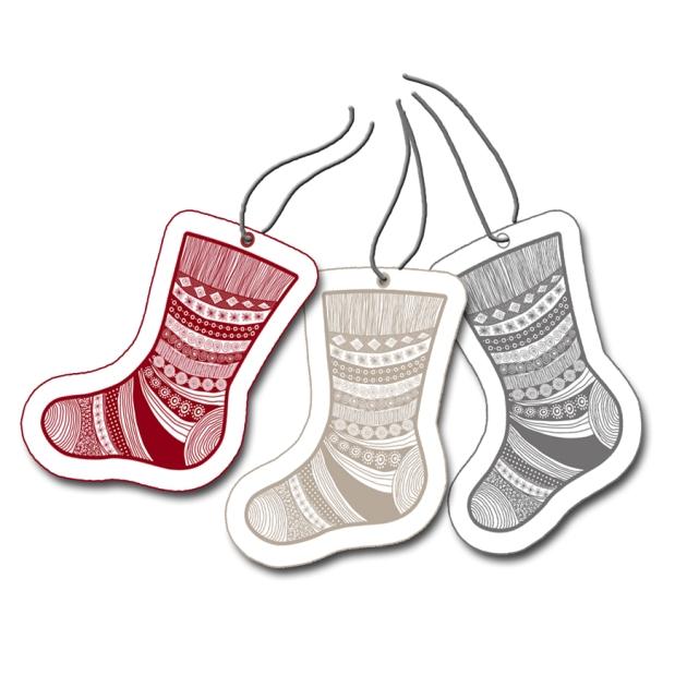 gratuit étiquette pour cadeau chaussette de noel
