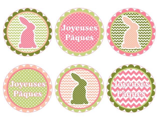 gratuit étiquettes de pâques à imprimer 2