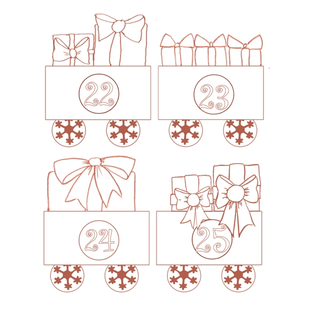 gratuit calendrier de l'avent à colorier petit train - free printable advent calendar  6