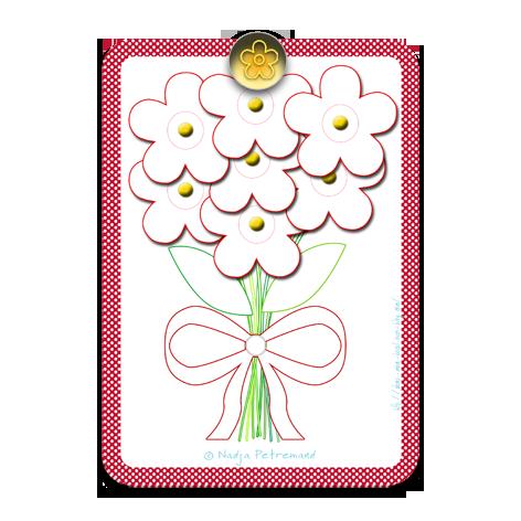 gratuit carte fête de grand mère à colorier nb