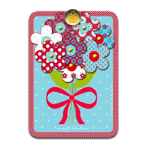 gratuit carte fête de grand mère à colorier