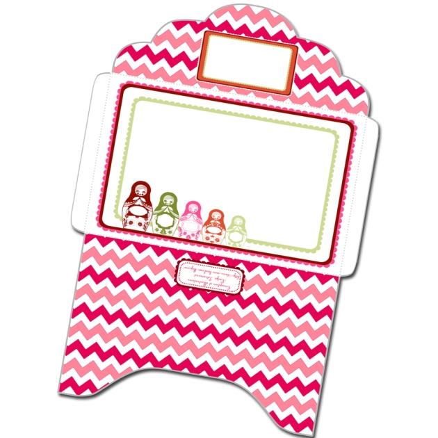 gratuit enveloppe motif poupée russe 2 matriochka free printable