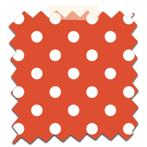 gratuit papier scrapbooking motif pois  blanc fond orange Free printable patterned papers