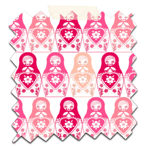 gratuit papier scrapbooking motif poupée russe rose Free printable patterned papers