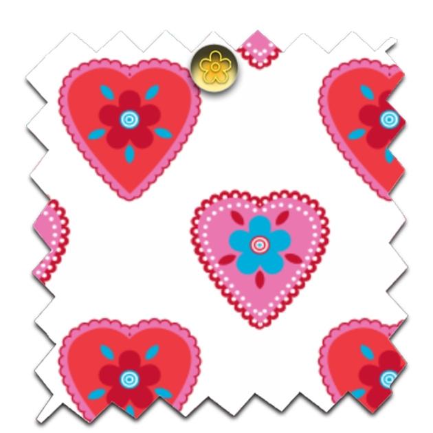 gratuit papier scrapbooking petit coeur fond blanc