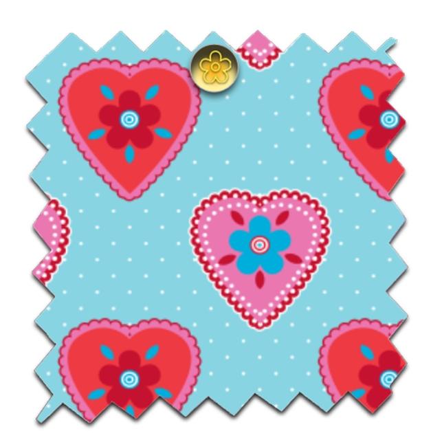 gratuit papier scrapbooking petit coeur fond bleu