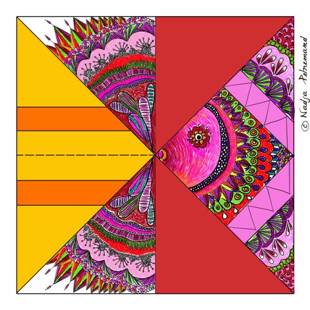 gratuit poisson origami couleur
