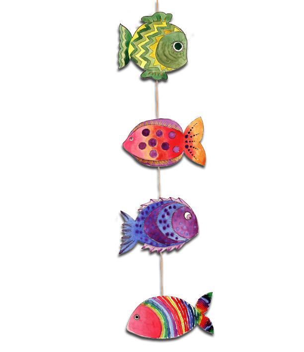 guirlande de poisson rouge