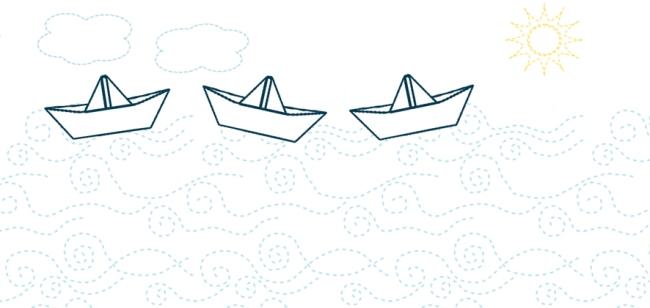 illustration bateau en papier paper boat