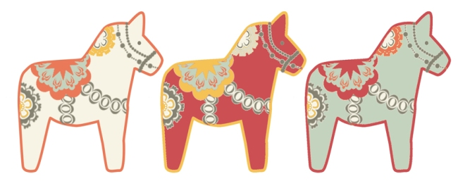 illustration dala horse