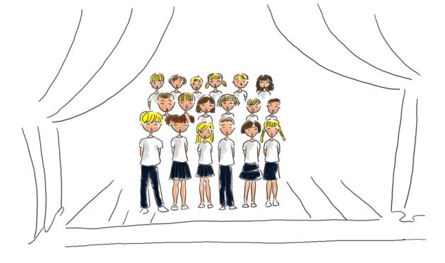illustration fête de l'école