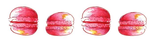 illustration macaron à l'aquarelle