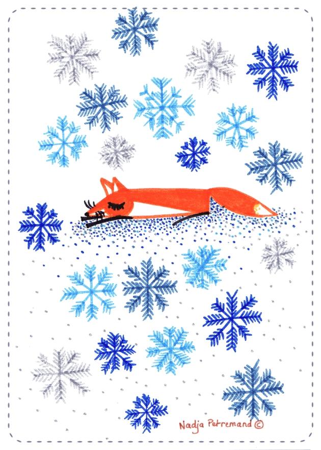 illustration mois de novembre flocons de neige