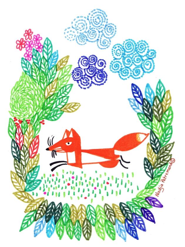 illustration mois de septembre petit renard