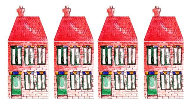 illustration petite maison de brique
