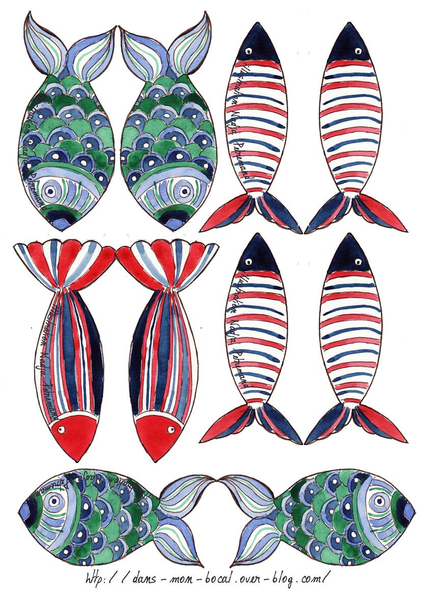 Ka t on pinterest paper toys picasa and 2015 calendar for Bocal a poisson design