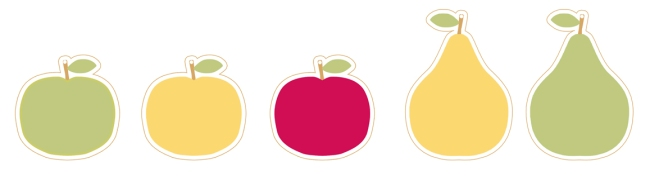 illustration pomme poire