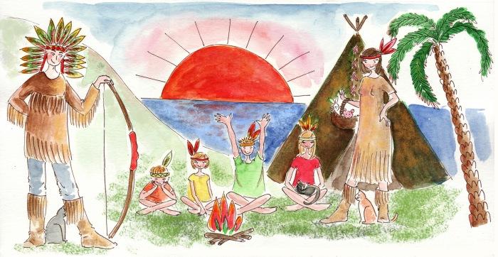 illustration pour pour bannière tribu d'indien