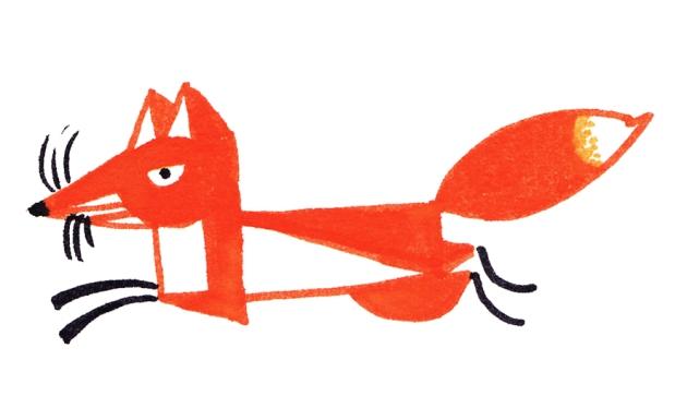 illustration renard qui court