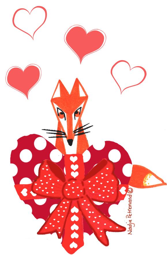 illustration renard st valentin