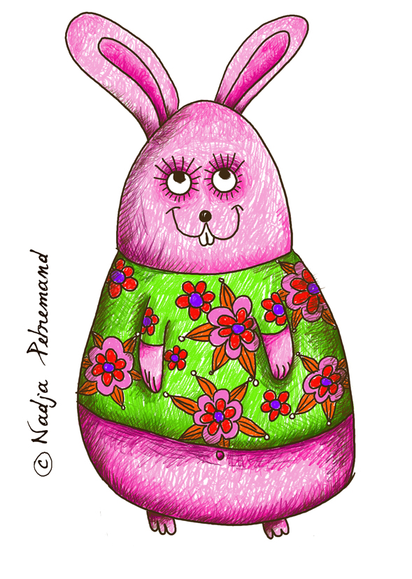 lapin de pâques couleur blog