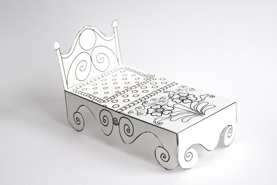 un lit en papier pour rose et simon dans mon bocal. Black Bedroom Furniture Sets. Home Design Ideas