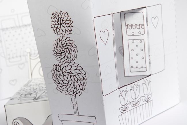 maison de poupée en papier 2