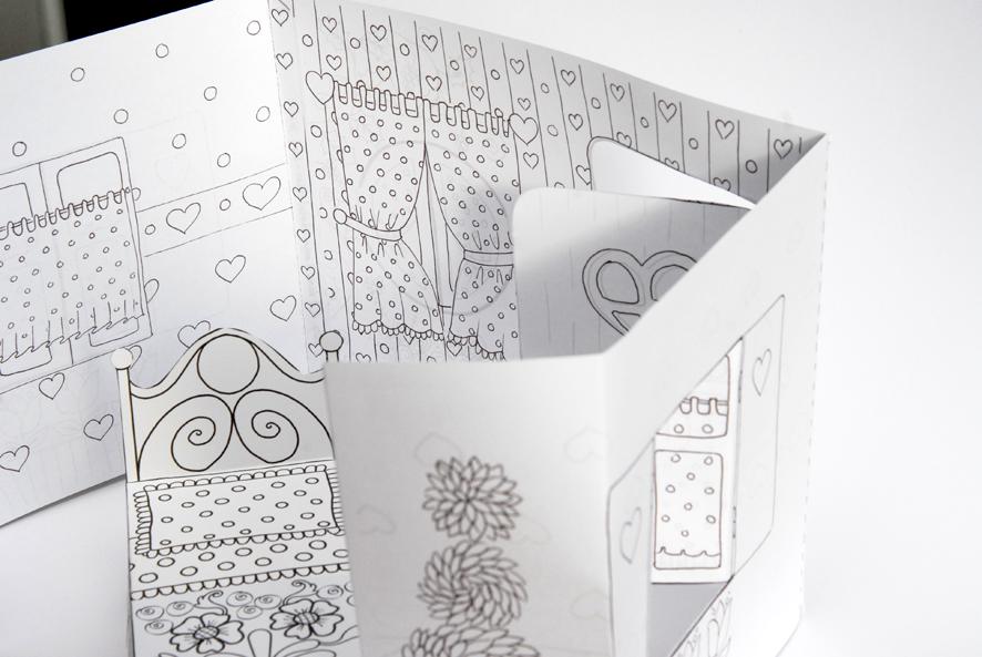 Coloriages dans mon bocal page 6 - Maison en papier a imprimer ...