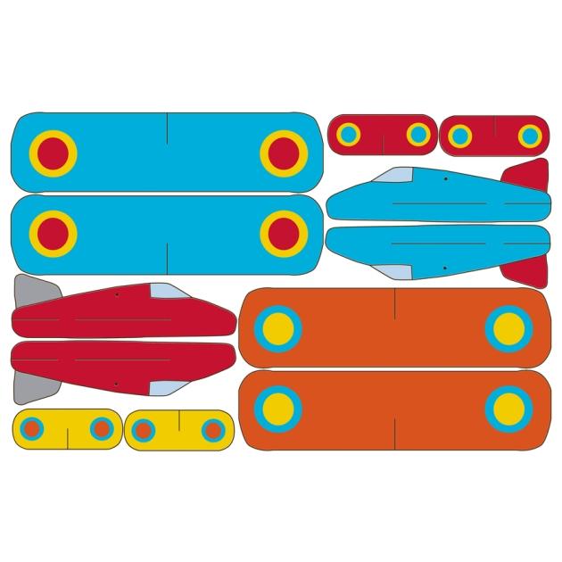 mobile avion à imprimer gratuitement bleu rouge