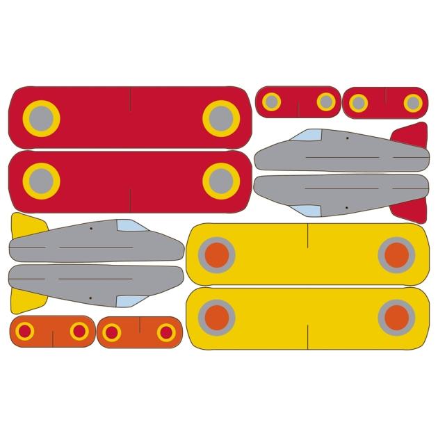 mobile avion à imprimer gratuitement jaune rouge