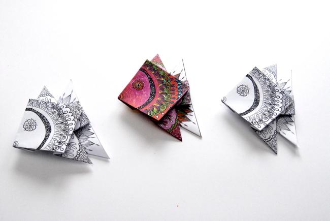 origami gratuit poisson 1