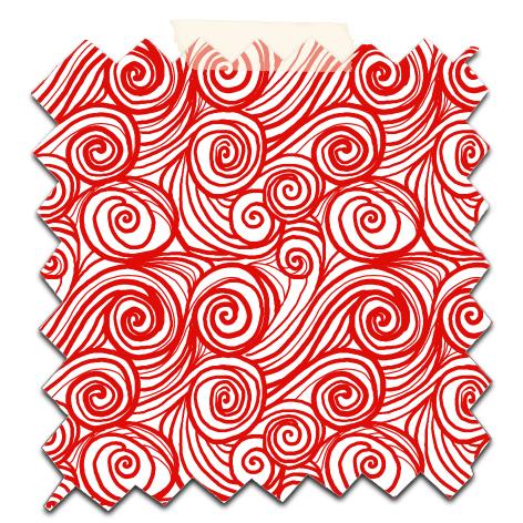 papier scrap gratuit motif houle rouge fond blanc