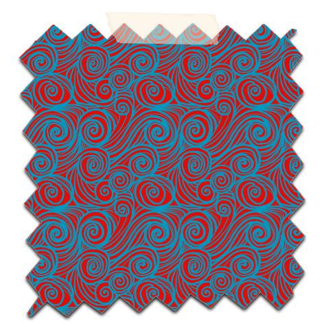papier scrap gratuit motif houle rouge fond bleu