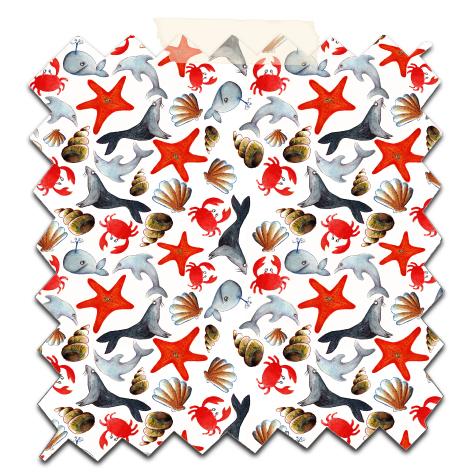 papier scrap gratuit motif liberty océan fond blanc