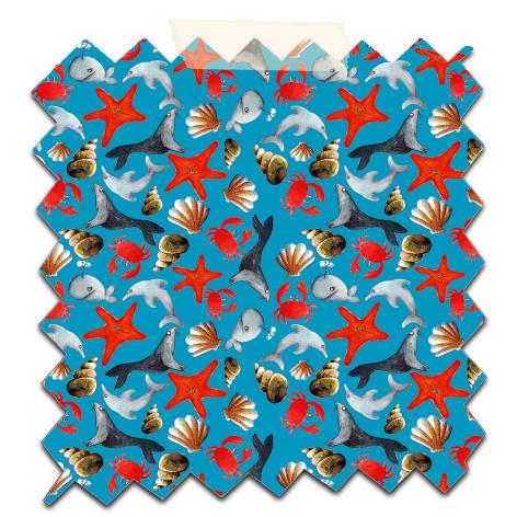 papier scrap gratuit motif liberty océan fond bleu